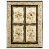 ECARPETGALLERY Hand-knotted Opulence Ivory Wool Rug - 7'9 x 9'6