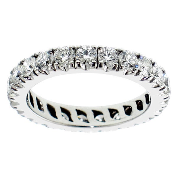 14k/ 18k Gold 2 - 2 1/3ct TDW Round Diamond Eternity Band
