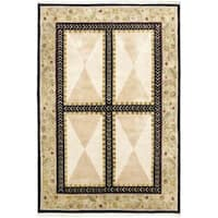 Hand-knotted Opulence Cream Wool Rug - 5'9 x 8'6