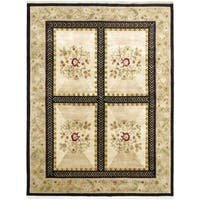 Hand-knotted Opulence Cream Wool Rug - 5'10 x 8'8