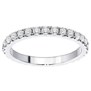 Gold or Platinum 1 1/5ct TDW Diamond Eternity Band (G-H, SI1-SI2)