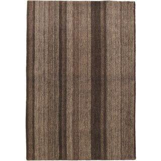 Hand-knotted Luribaft Gabbeh Riz Grey Wool Rug (4' x 6')