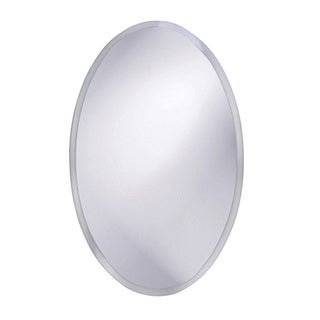 Frameless Beveled Oval Mirror