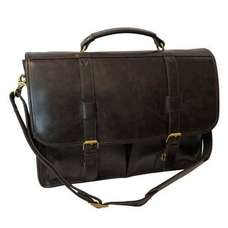 Amerileather Heritage 14-inch Laptop Briefcase|https://ak1.ostkcdn.com/images/products/8410614/P15710006.jpg?impolicy=medium