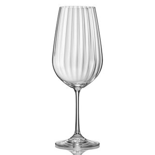 Red Vanilla Viola Optic 11.75-ounces Wine Glass (Set of 6)