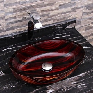 Elite 184E Modern Tempered Hot Melt Glass Vessel Sink
