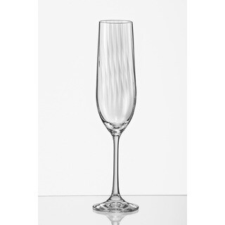 Red Vanilla 6.5-ounce Viola Optic Champagne Flute (Set of 6)