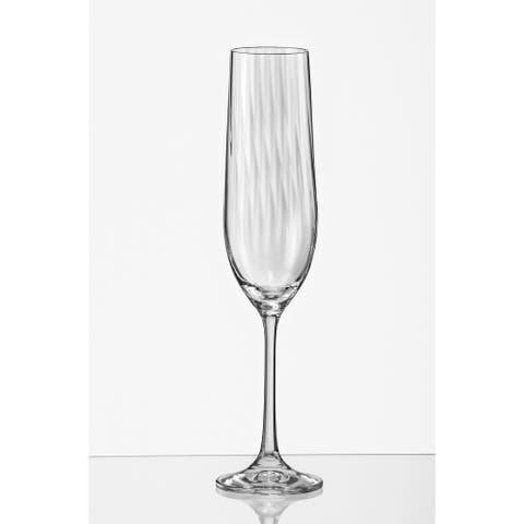 Viola Optic Champagne Flute 6.5oz (Set of 6)