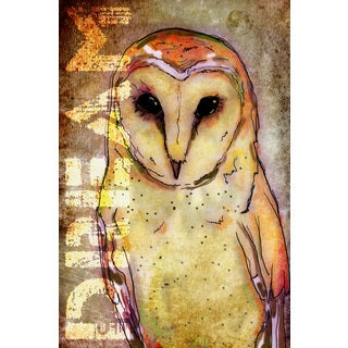 Art in Style 'Dream Owl Yellow' Giclee on Canvas Wall Art