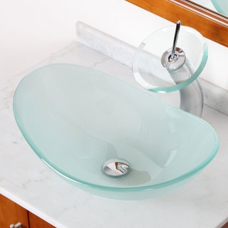 Elite GD33F371023C Tempered Bathroom Glass Vessel Sink