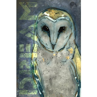 Art in Style 'Dream Owl Blue' Giclee on Canvas Wall Art