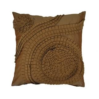 Sherry Kline 21-inch Pleated Swirl Tafetta Pillow