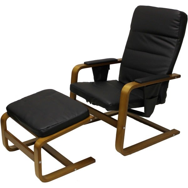 Stockholm Bentwood Reclining ChairOttoman Free Shipping Today – Reclining Chairs with Ottomans