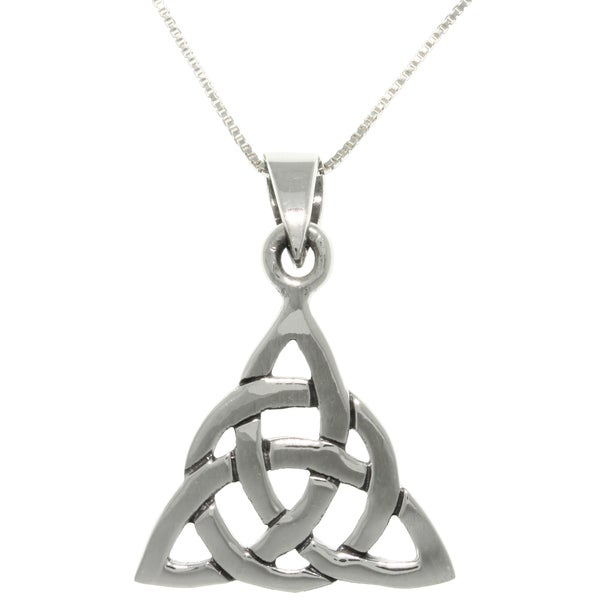 Carolina Glamour Collection Silver Triangle Knot Necklace