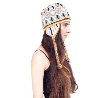 Classic Winter Hand-knit Snowboarding Hat (Nepal)