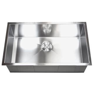 36-inch Stainless Steel Single Bowl Undermount Zero Radius Kitchen Sink 16 Gauge