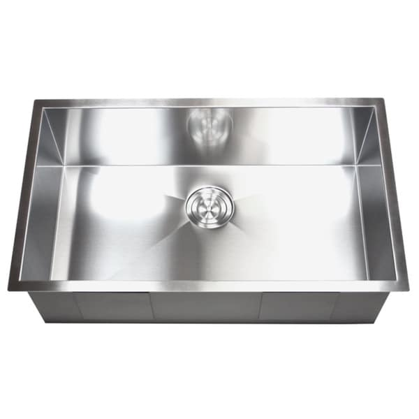 36 inch stainless steel single bowl undermount zero radius kitchen sink 16 gauge 36 inch stainless steel single bowl undermount zero radius kitchen      rh   overstock com