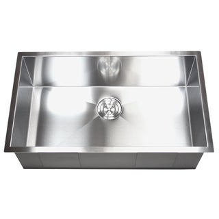 36-inch Stainless Steel Single Bowl Undermount Zero Radius Kitchen Sink 16 Gauge