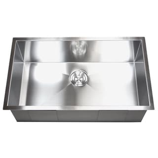 30-inch Stainless Steel  Single Bowl Undermount Zero Radius Kitchen Sink 16 Gauge