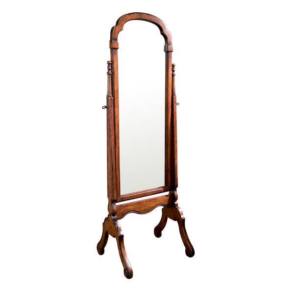 plantation cherry cheval mirror free shipping today. Black Bedroom Furniture Sets. Home Design Ideas
