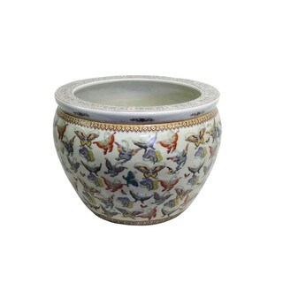 Butterfly Menagerie Porcelain Fishpot