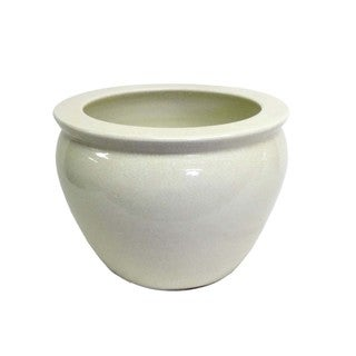 Cream Crackle Porcelain Fishbowl