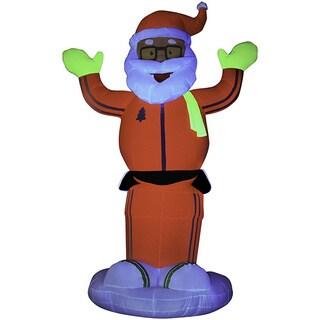 6-foot Animated Inflatable Neon Dancing Santa
