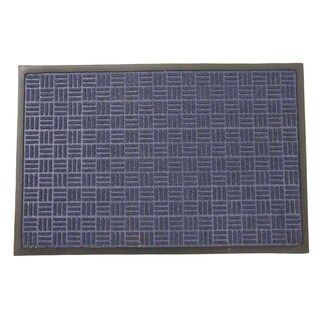Rubber-Cal 'Wellington' Blue Entrance Carpet Mat (18 x 30 inches)