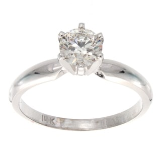 Victoria Kay 14k Gold 3/4ct TDW Certified Diamond Solitaire Engagement Ring