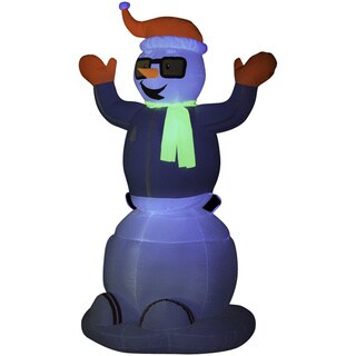 6-foot Animated Inflatable Neon Snowman
