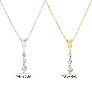 Victoria Kay 14k Gold 1/10ct TDW Diamond Journey Necklace