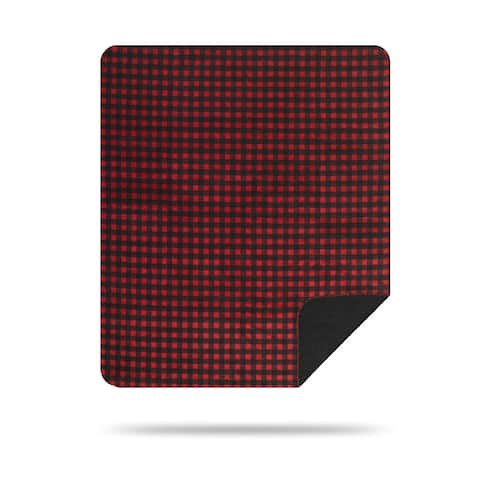 Denali Red and Black Buffalo Check Throw Blanket