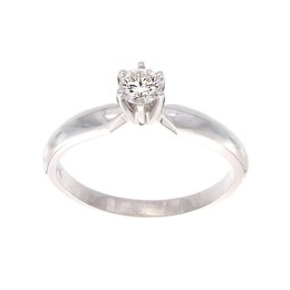 Victoria Kay 14k Gold 1/4ct TDW Certified Diamond Solitaire Engagement Ring