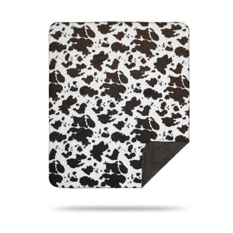 Denali Brown Cow/Taupe Blanket - 60x50