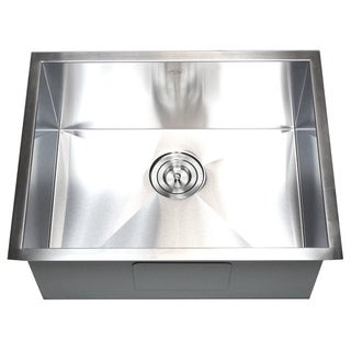 23-inch Stainless Steel Single Bowl Undermount Zero Radius Kitchen Sink