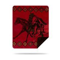 Denali Wild Horses/Chocolate Blanket - 60x70