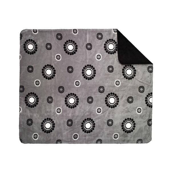 Denali Grey Circles and Dots Throw Blanket