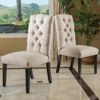 Berlin Tufted Fabric Dining Chair (Set of 2) by Christopher Knight Home