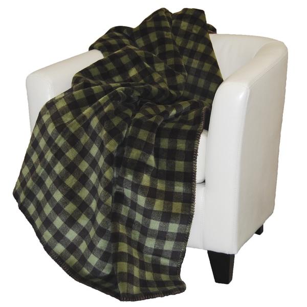 Denali Thyme and Chocolate Buffalo Check Throw Blanket