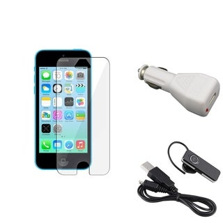 INSTEN LCD Protector/ Headset/ Car Charger Adapter for Apple iPhone 5C