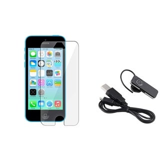 INSTEN Clear Screen Protector/ Wireless Headset for Apple iPhone 5/ 5C/ 5S/ SE