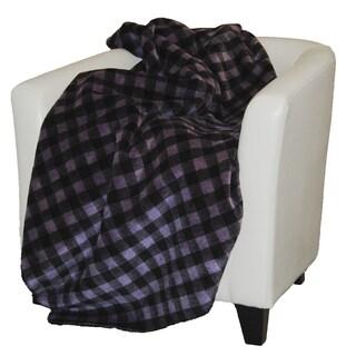 Denali Purple and Black Buffalo Check Throw Blanket