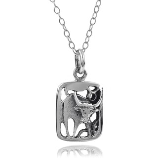 Journee Collection Sterling Silver Zodiac Necklace