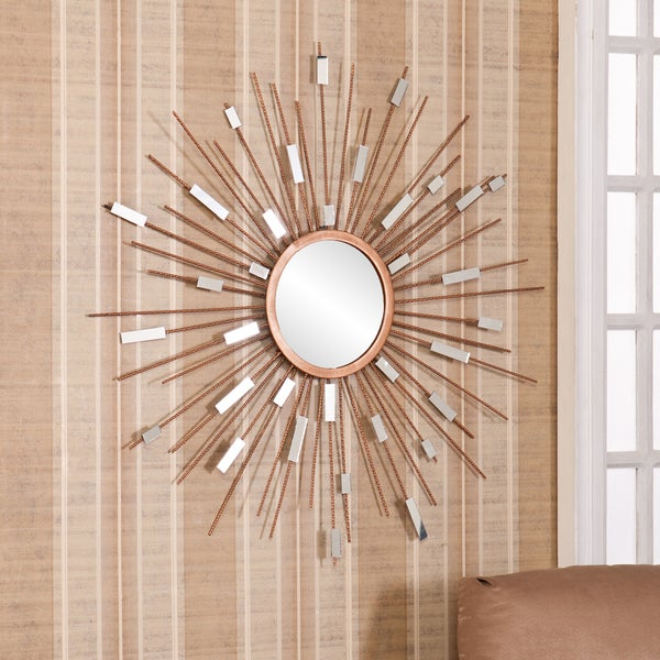 Harper blvd naomi starburst mirrored wall sculpture free for How to make a mirror wall