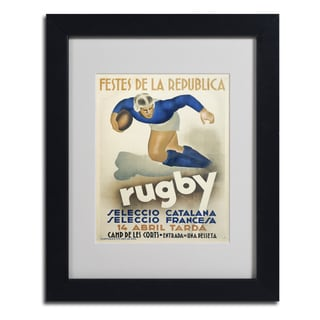 Vintage Apple Collection 'Rugby' Framed Matted Art