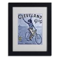 Vintage Apple Collection 'Bike 55' Framed Matted Art