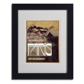 Vintage Apple Collection 'Paris Cigarettes 1901' Framed Matted Art