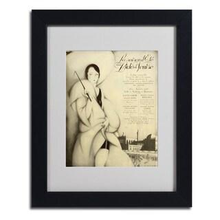 Vintage Apple Collection 'Venise Hotel' Framed Matted Art