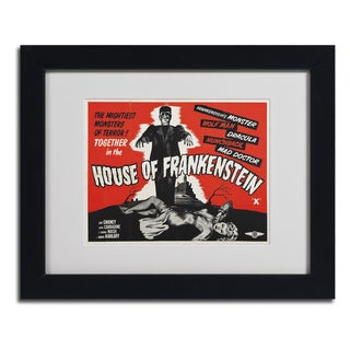 Vintage Apple Collection 'House of Frankenstein' Framed Matted Art
