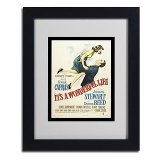 Vintage Apple Collection 'It's a Wonderful Life' Framed Matted Art
